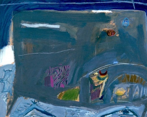Grey Table with Easter Eggs 1966 Oil on canvas 83.2x115.5